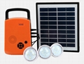 4W Solar DC Lighting Kit - 3 bulbs