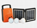 4W Solar DC Lighting Kit - 3 bulbs