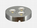 12V LED Puck light 4x3W Dimmable puck lamp led cabinet lamp 120 Degree