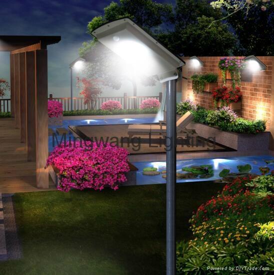 5W 8W LED 一體化太陽能庭院燈 8