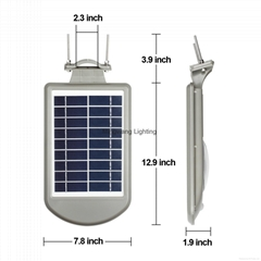 Outdoor solar lamp all in one design 500lm with sensor