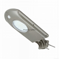 Integrated outdoor solar lamp with