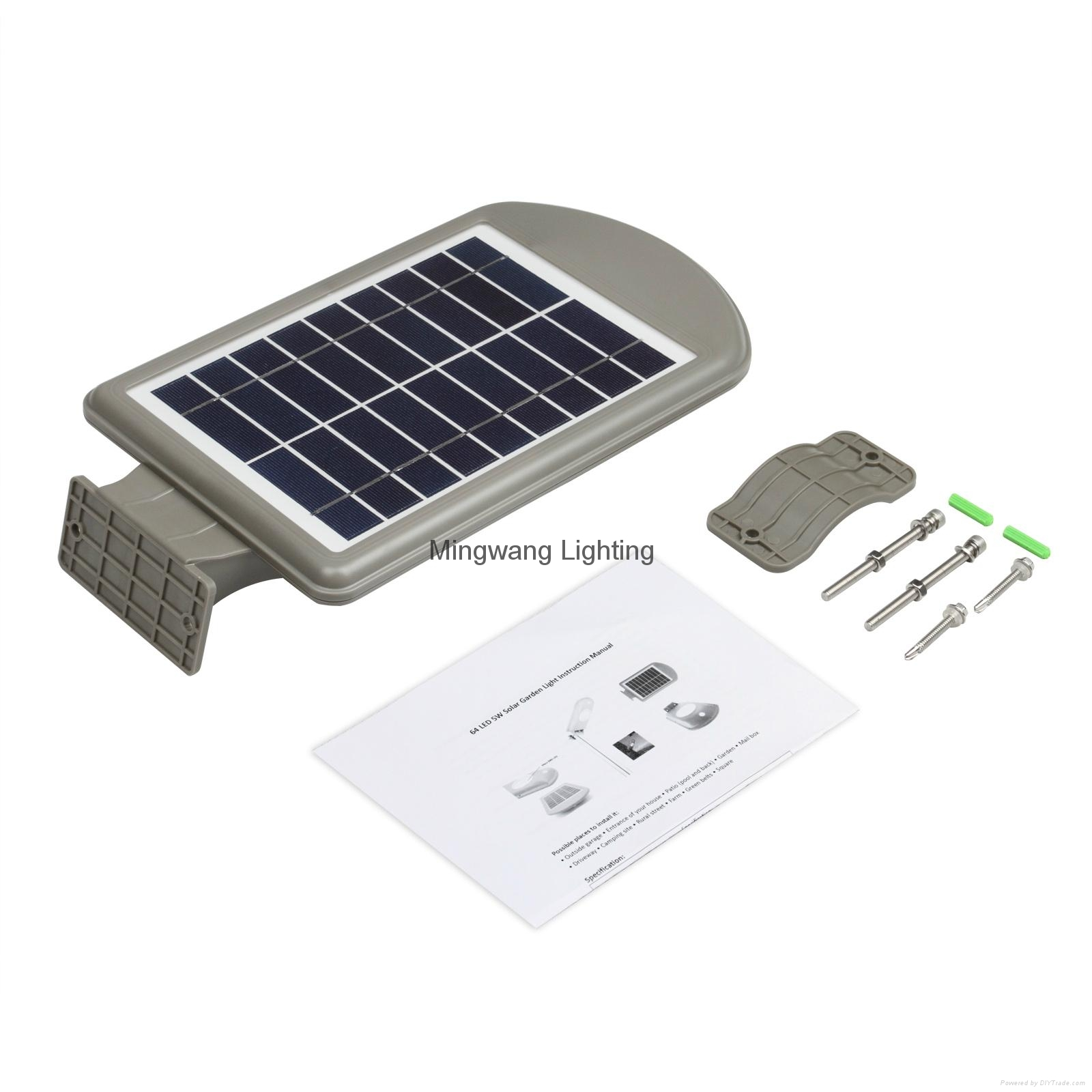 Integrated outdoor solar lamp with sensor 5W all in one solar 5
