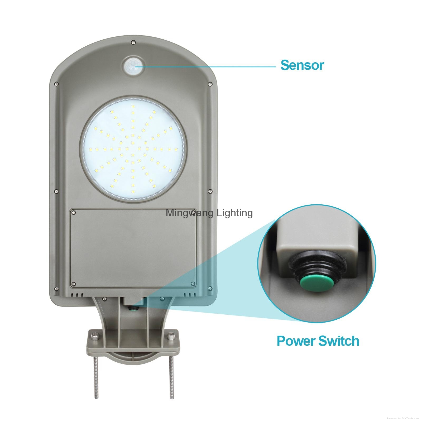 Integrated outdoor solar lamp with sensor 5W all in one solar 6