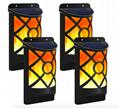 Solar Flame Lights Outdoor, Waterproof Flickering Flame Solar Lights