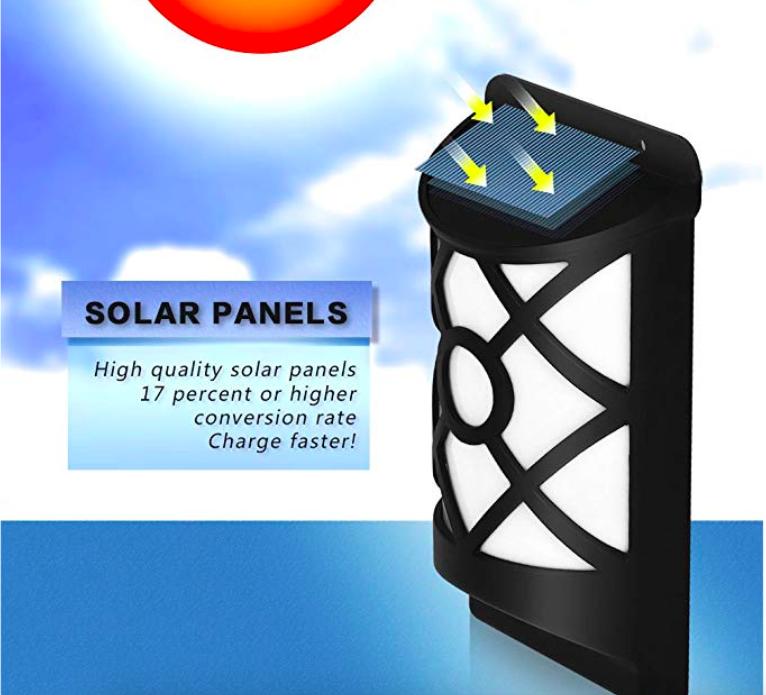 Solar Flame Lights Outdoor, Waterproof Flickering Flame Solar Lights 4