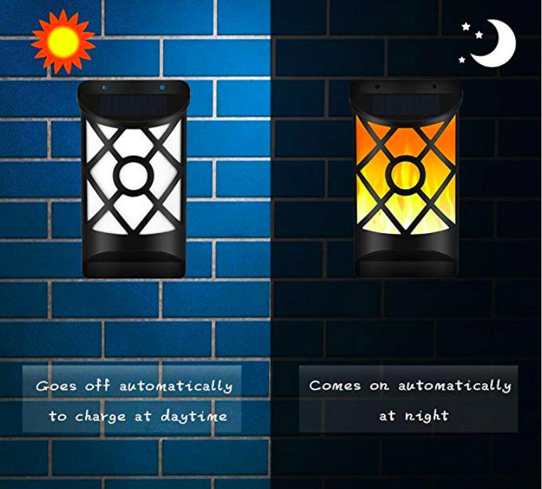 Solar Flame Lights Outdoor, Waterproof Flickering Flame Solar Lights 5