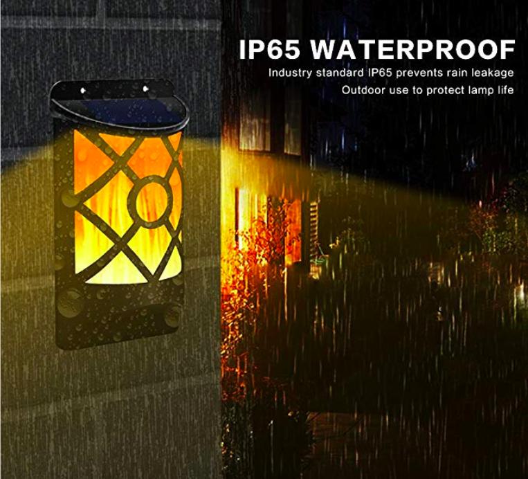 Solar Flame Lights Outdoor, Waterproof Flickering Flame Solar Lights 6