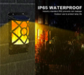 Solar Flame Lights Outdoor, Waterproof Flickering Flame Solar Lights