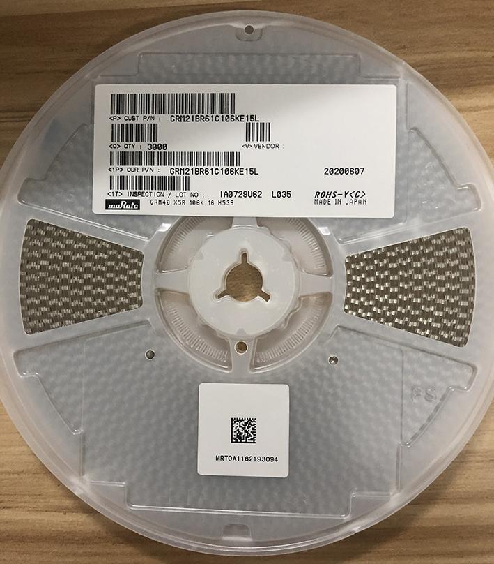 muRata Ceramic Capacitors(SMD) GRM21BR61H106KE43L 2