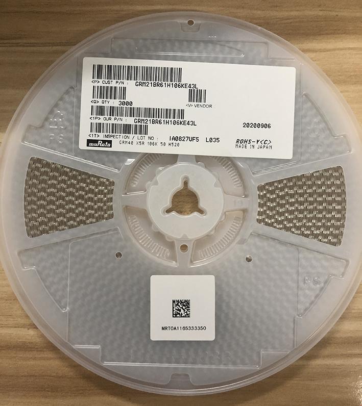 muRata Ceramic Capacitors(SMD) GRM21BR61H106KE43L 3