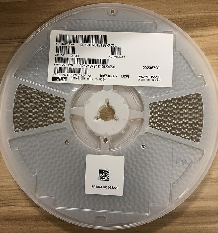 muRata Ceramic Capacitors(SMD) GRM21BR61H106KE43L 4