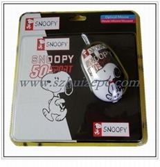 供應卡通鼠標-水轉印鼠標-廣告鼠標