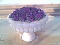黃鏽石花缽花盆噴泉
