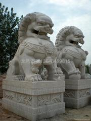石雕石獅守門獅