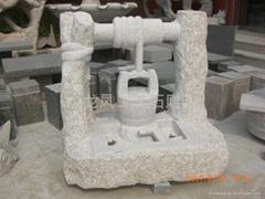 花崗岩石雕轆轤水盆