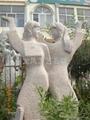 石雕雕塑春韻麻姑獻壽