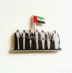 振华科技专业定制阿联酋长国阿拉伯徽章 金属徽章 中东国旗徽章