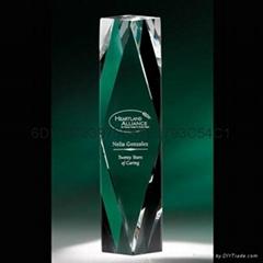 新款酸洗水晶獎杯獎牌獎座