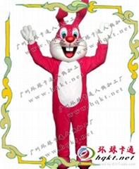 卡通红娘兔