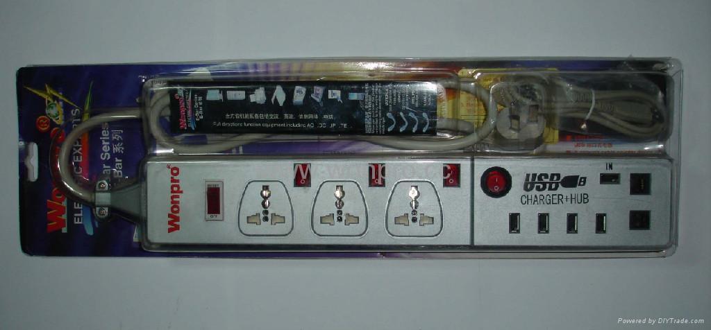 防雷型万用/英标/德标/美标USB充电高级转换器 3