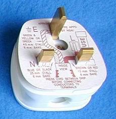 英标二极带接地自配线插头(WSP-7) 1