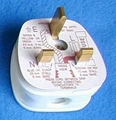 英标二极带接地自配线插头(WS