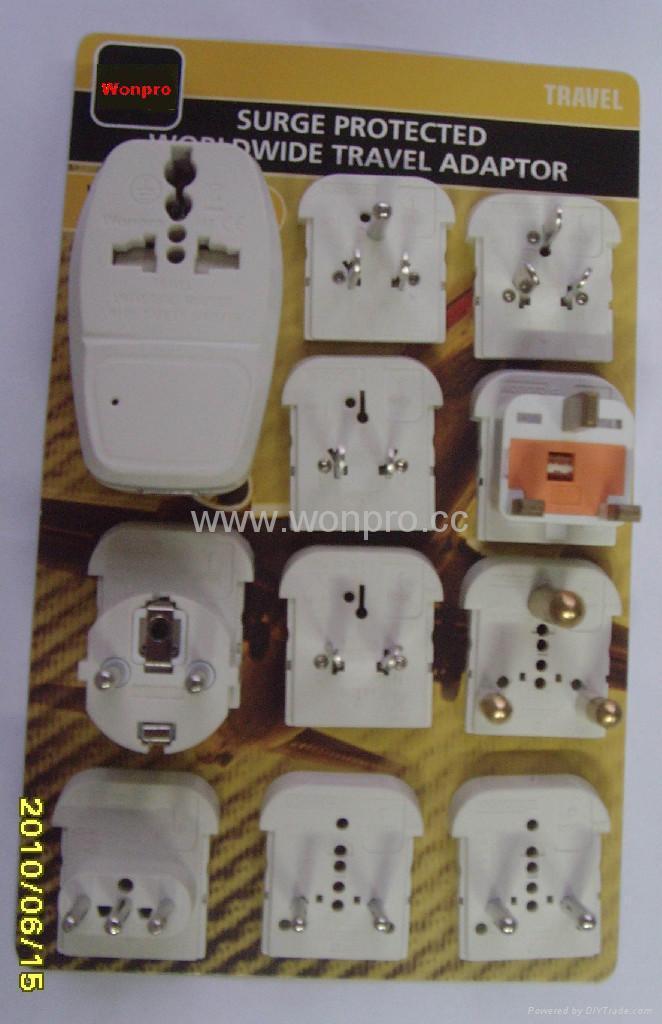 全球通旅游转换器组带USB充电(ASTDBU-P10-PP) 2