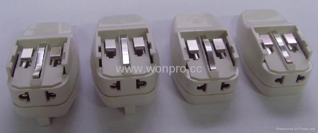 Euro type Universal Travel Adapter Kit w/ built-in USB charger(ASTGFDBU-P10vs) 4