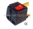 UK, Iraq  Grounded Plug Adapter(WSA-7.BK) 2