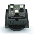 英卡入式工业用一位欧洲通插座黑色(BSF-RGF-BK)