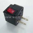 Japan, US  Ungrounded Plug Adapter(WSA-5.BK) 2