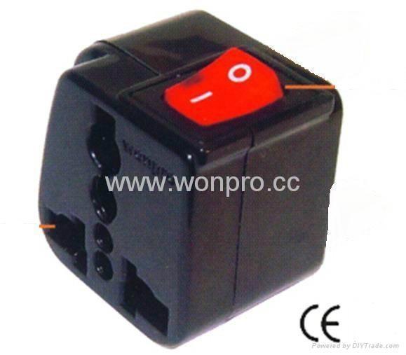 Japan, US  Ungrounded Plug Adapter(WSA-5.BK) 3