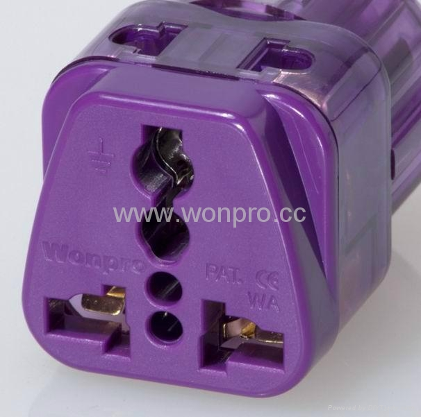 India Plug Adapter (Grounded) (WADB-10.P.PL.L) 2
