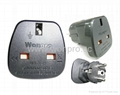 Schuko /England Grounded Plug Adapter(WAS7-9-BK/WAS9-7-BK)