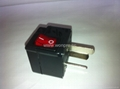 中澳洲式插头转中欧插座附开关带灯转换器(WSA6B-16-BK)
