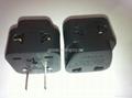 中日美式插头转中欧插座侧插两用转换器(WA6BDB-6-BK)