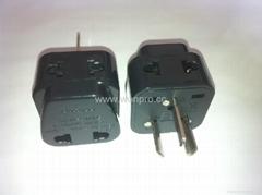 中澳洲式插头转中欧插座侧插两用转换器(WA6BDB-16-B