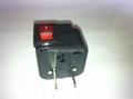 中日美式插头转中欧插座附开关带灯转换器(WSA6B-6-BK)