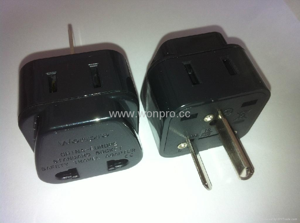 China (and old Australia) Plug Adapter (Grounded))(WA6BD-16-BK) 1