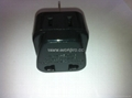 China (and old Australia) Plug Adapter (Grounded))(WA6BD-16-BK) 2