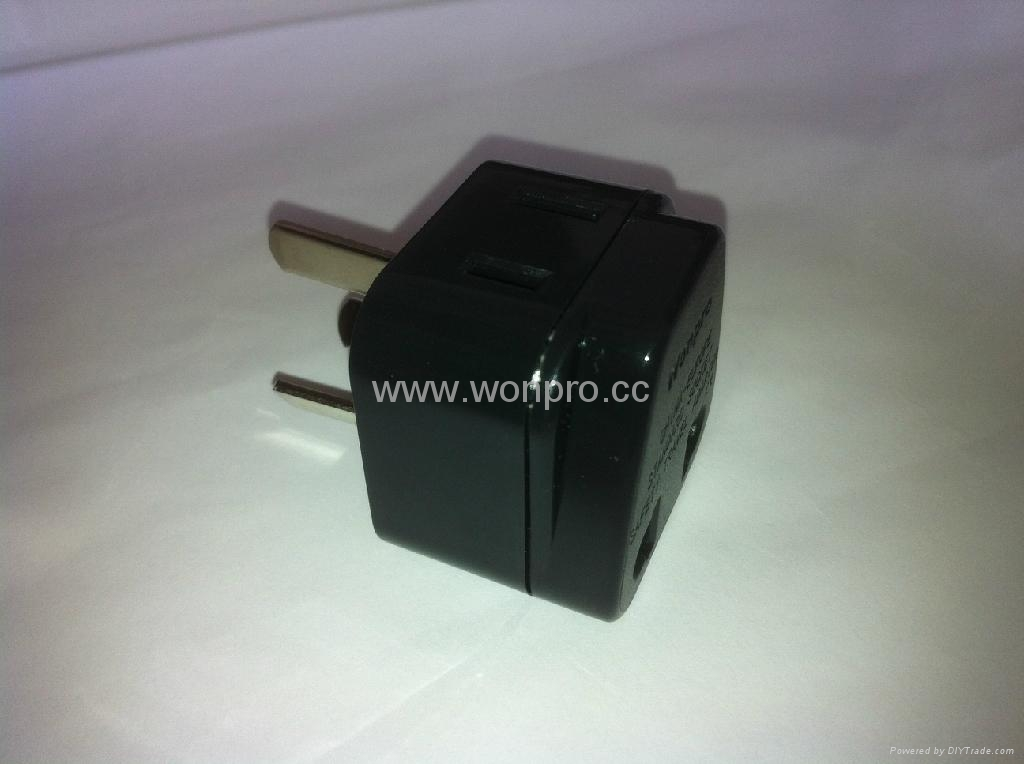 China (and old Australia) Plug Adapter (Grounded))(WA6BD-16-BK) 3