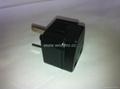 中澳洲式插头转中欧插座侧插转换器(WA6BD-16-BK)