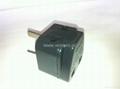 中澳洲式插头转中欧插座侧插两用转换器(WA6BDB-16-BK)
