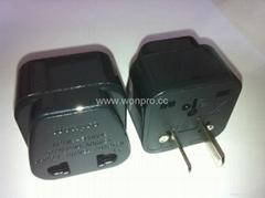 中日美式插头转中欧插座转换器(