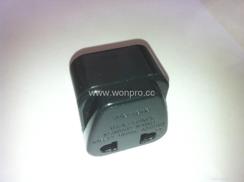 中日美式插头转中欧插座转换器(WA6B-6-BK) 2