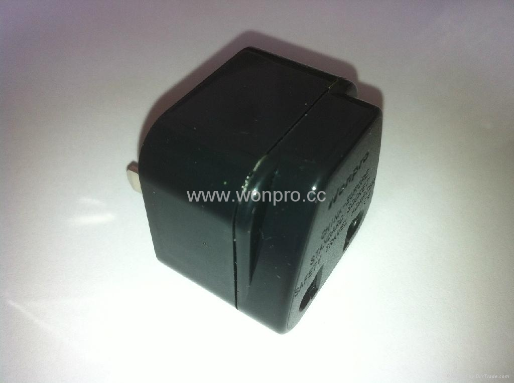 Japan, US Ungrounded Plug Adapter(WA6B-6-BK) 5