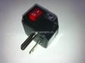 日美式插头转英标插座附开关带灯转换器(WSA7-5-BK)