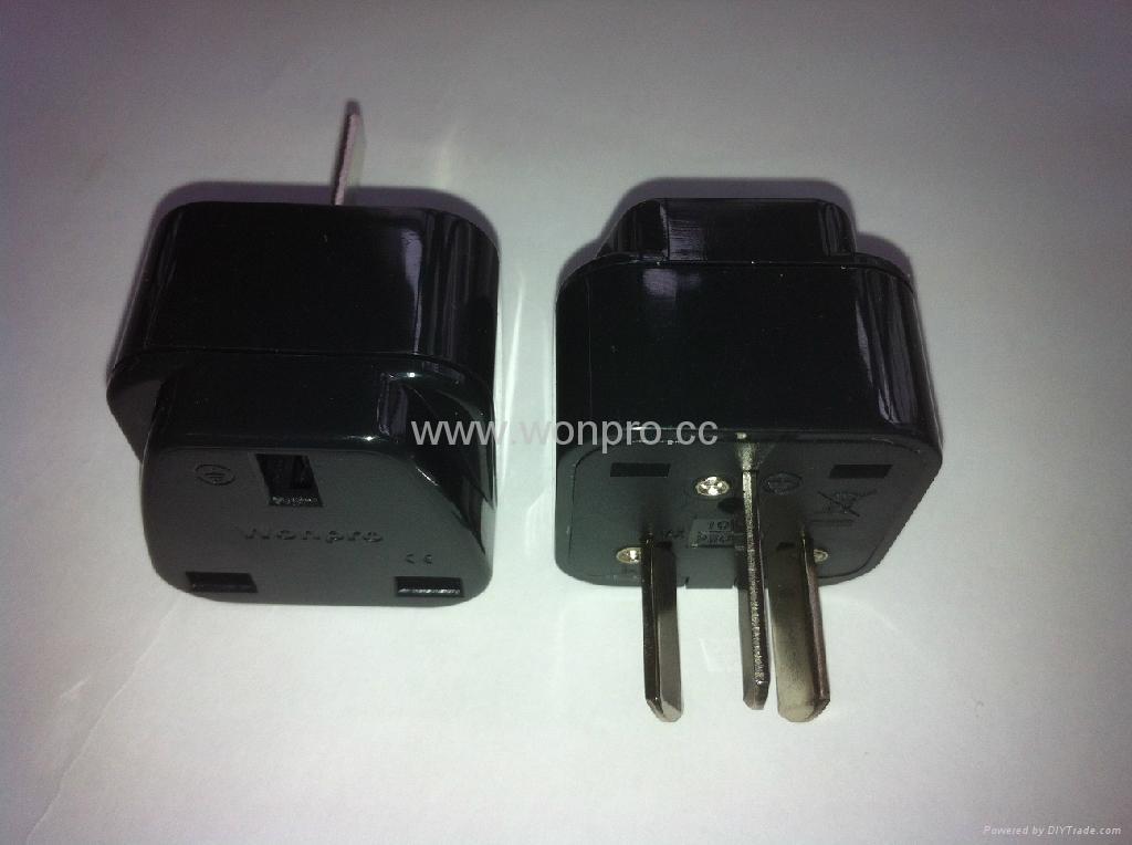 中澳洲式插头转英标插座转换器(WA7-16-BK)