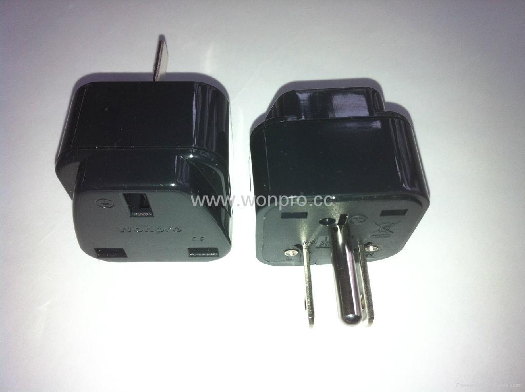 日美式插头转英标插座转换器(WA7-5-BK) 1